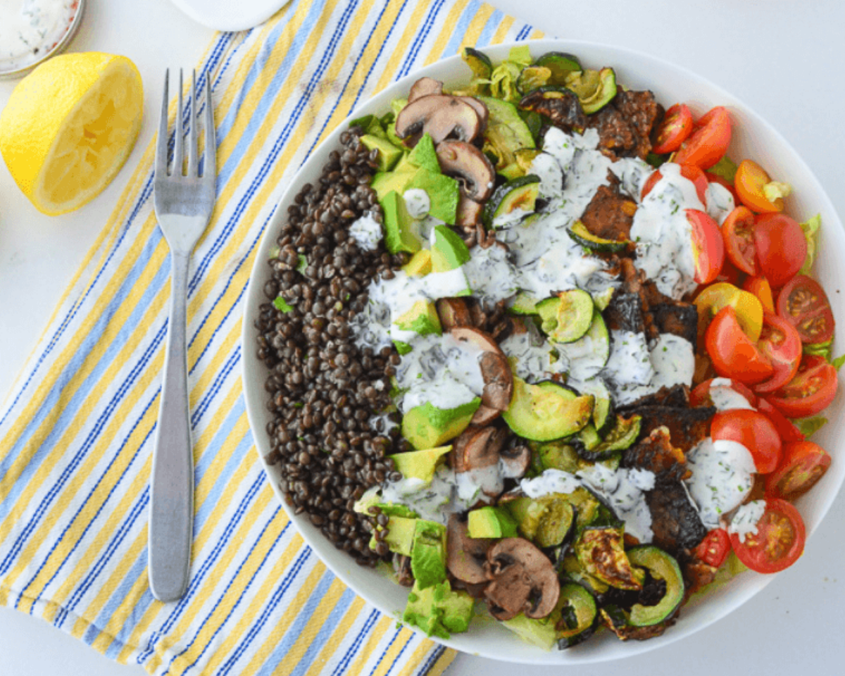 high protein salad recipes