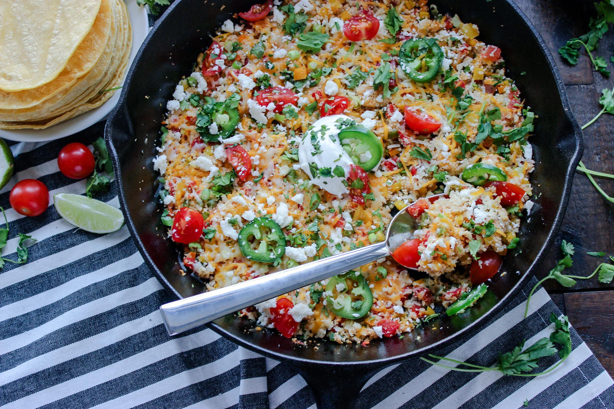 Cheesy Mexican Cauliflower Rice