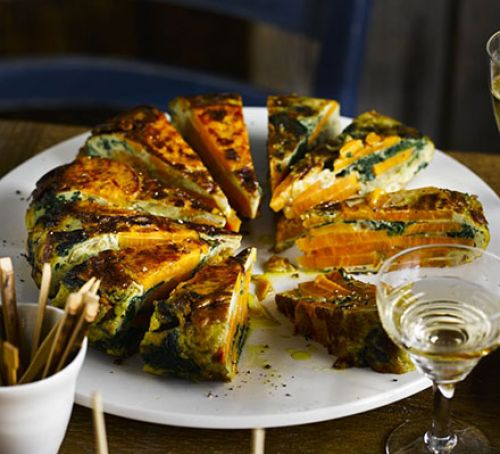 Spinach and Sweet Potato Tortilla