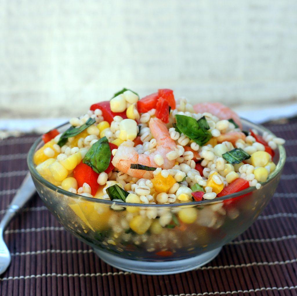 shrimp barley and corn salad