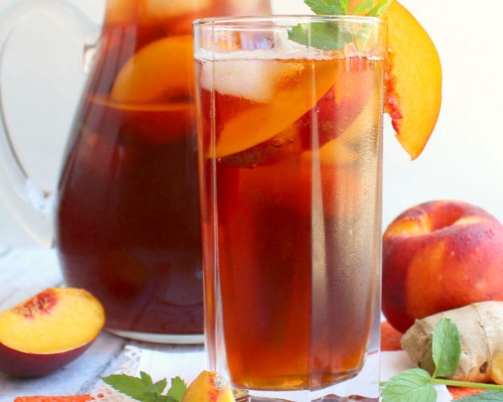 Iced Peach Ginger Tea