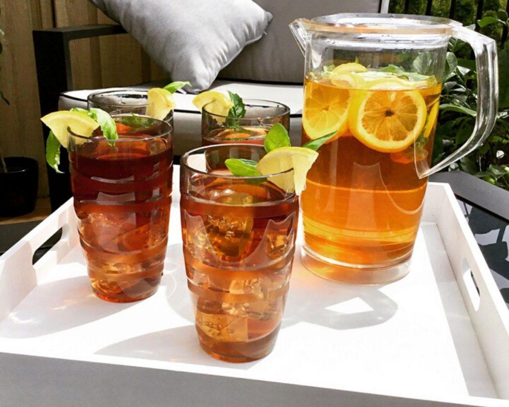 Lemon Basil Iced Tea