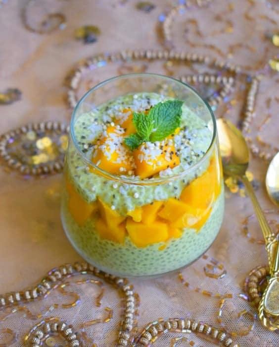 Mango-chia-pudding