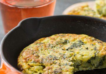 Spanish Spinach Omelette Recipe