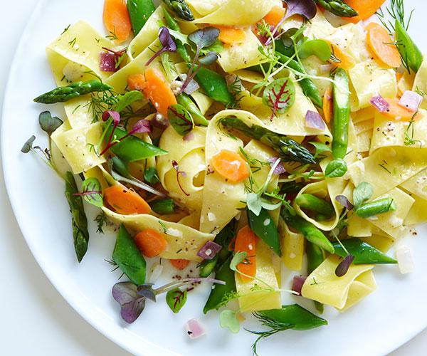 lemon spring vegetable pasta