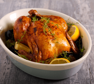 Lemon and Thyme Butter-basted Roasted Chicken