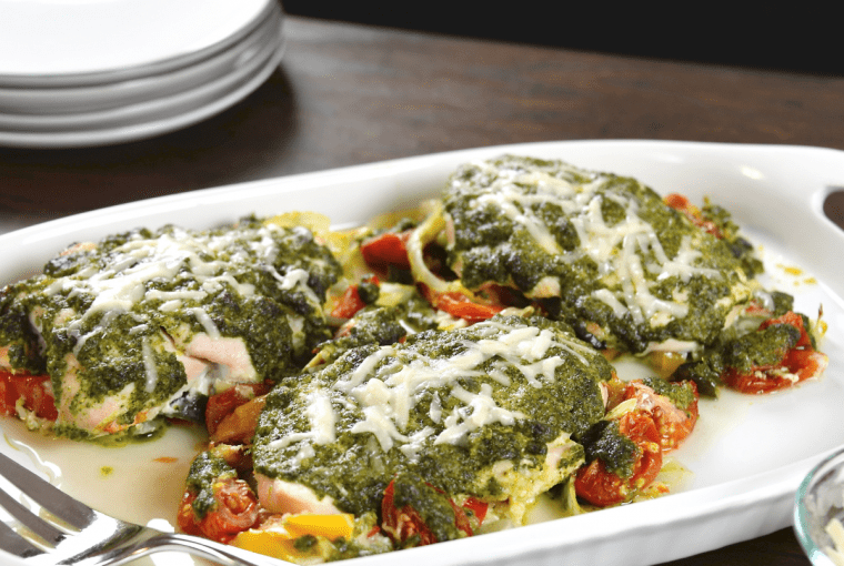 Pesto Chicken with Summer Squash